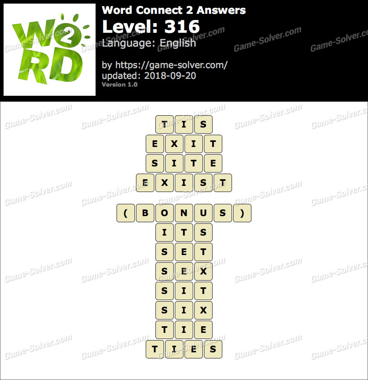 Word Connect 2 Level 316 Answers
