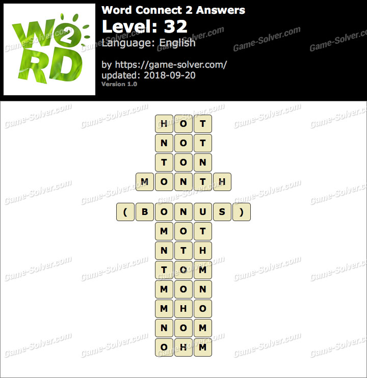 Word Connect 2 Level 32 Answers