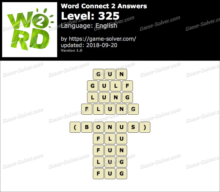 Word Connect 2 Level 325 Answers