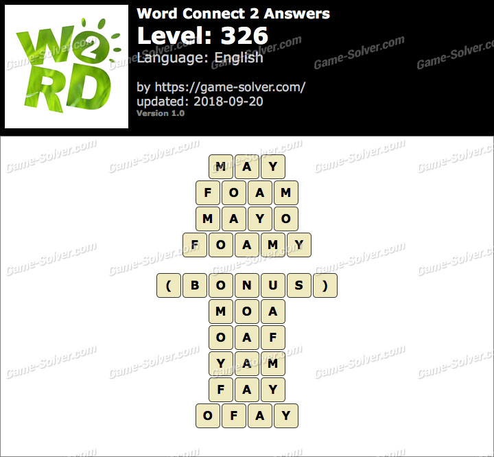 Word Connect 2 Level 326 Answers