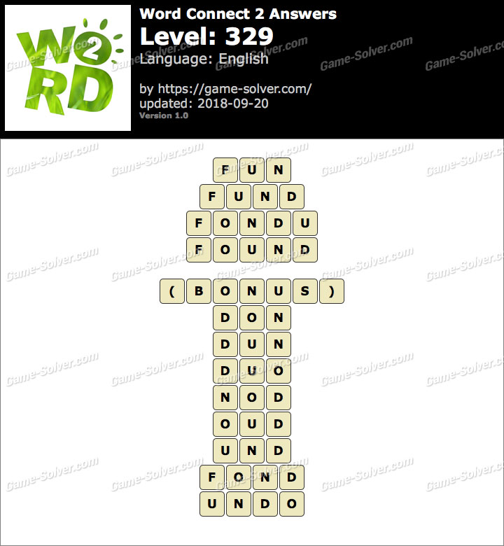 Word Connect 2 Level 329 Answers