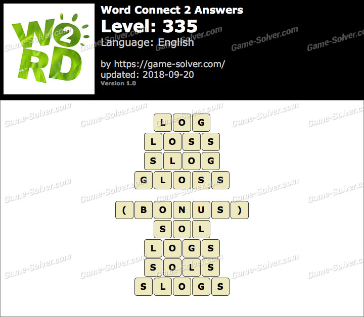Word Connect 2 Level 335 Answers