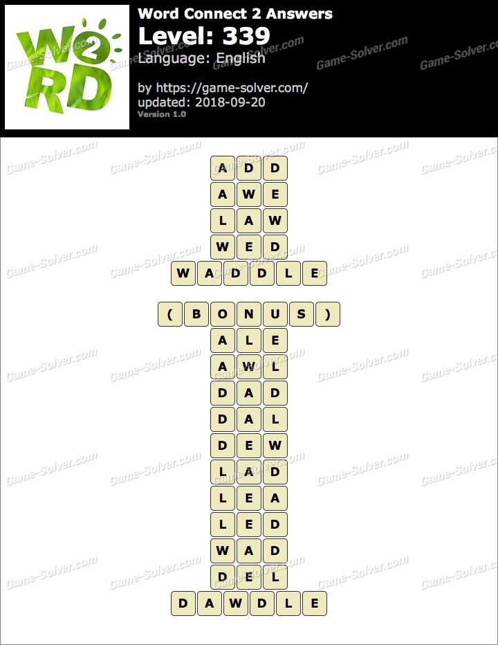 Word Connect 2 Level 339 Answers