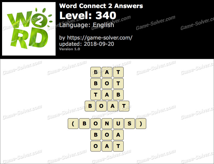 Word Connect 2 Level 340 Answers