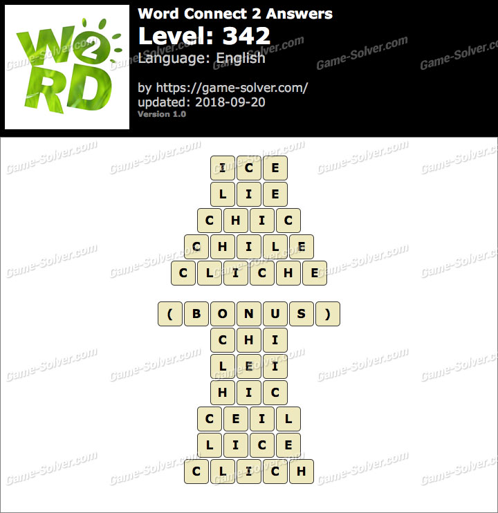 Word Connect 2 Level 342 Answers