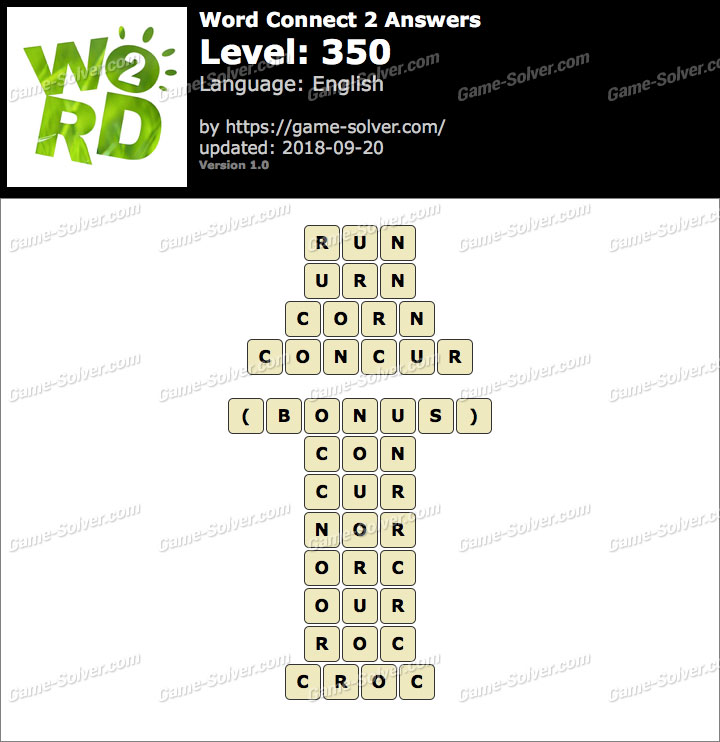 Word Connect 2 Level 350 Answers