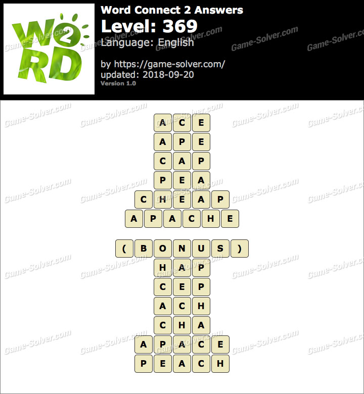 Word Connect 2 Level 369 Answers