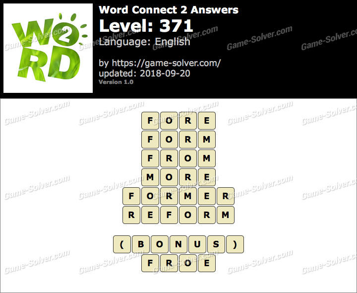 Word Connect 2 Level 371 Answers