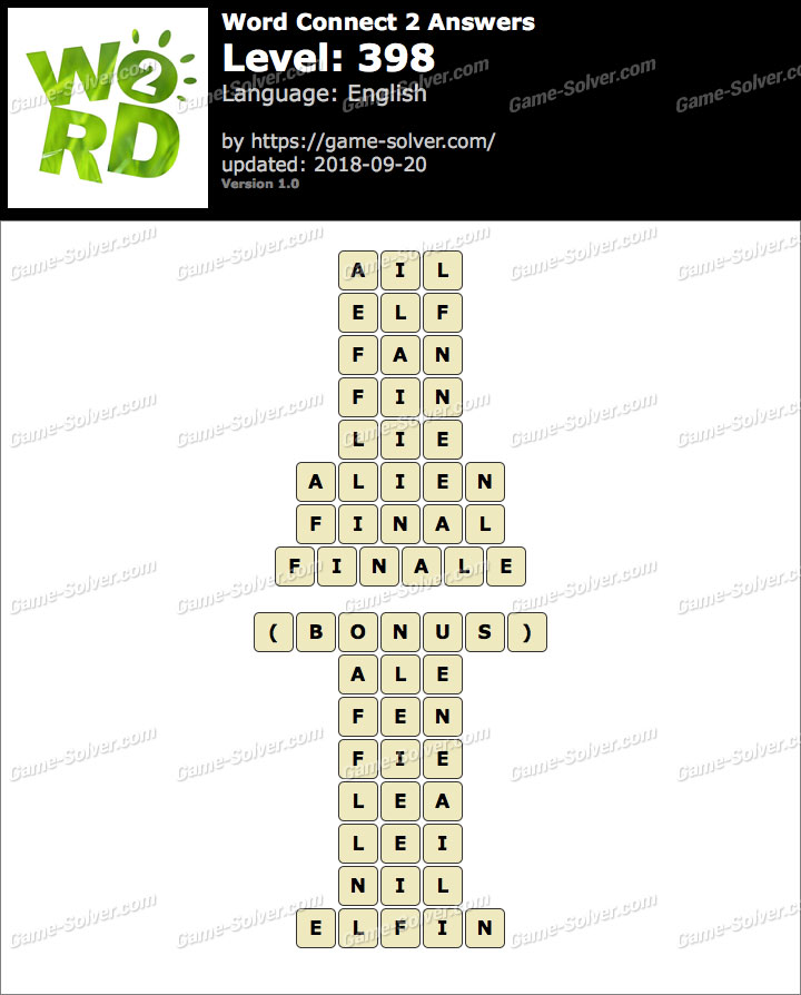 Word Connect 2 Level 398 Answers