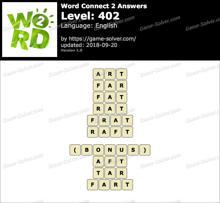 Word Connect 2 Level 402 Answers