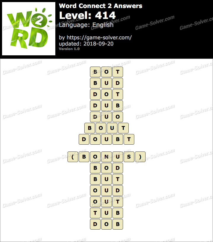 Word Connect 2 Level 414 Answers