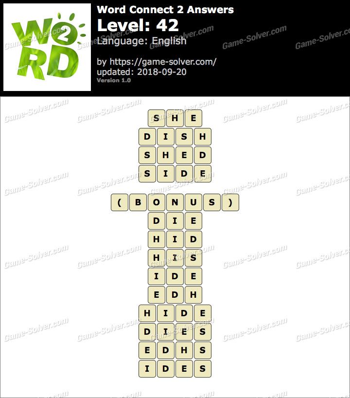 Word Connect 2 Level 42 Answers
