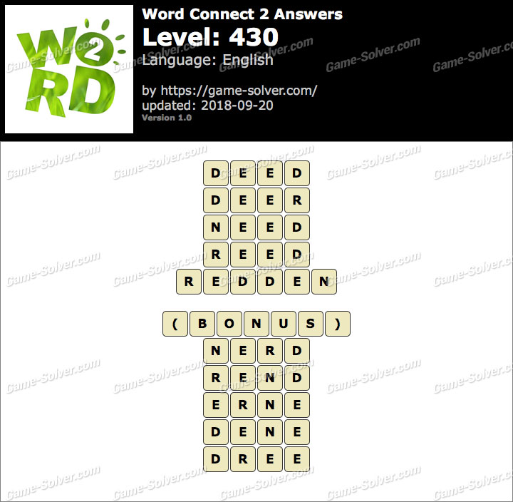 Word Connect 2 Level 430 Answers
