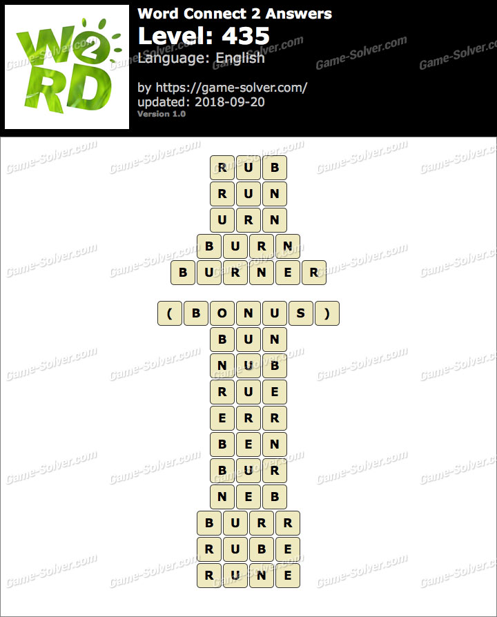Word Connect 2 Level 435 Answers