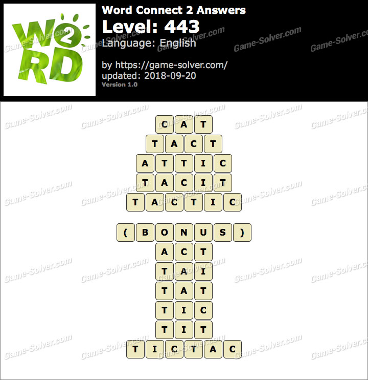 Word Connect 2 Level 443 Answers