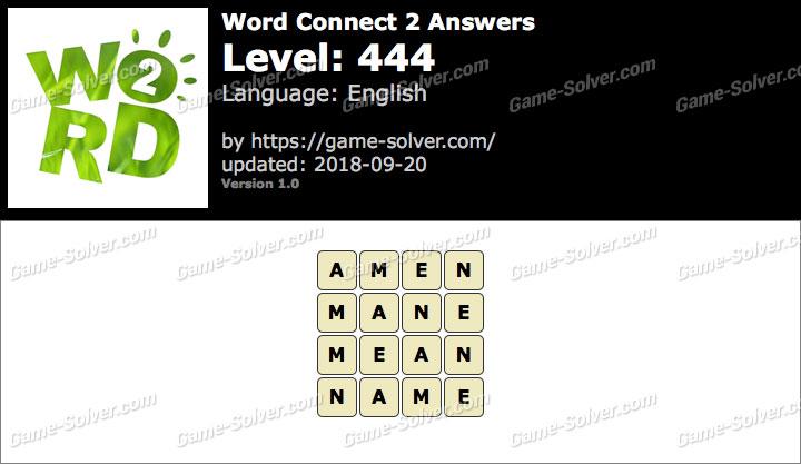 Word Connect 2 Level 444 Answers