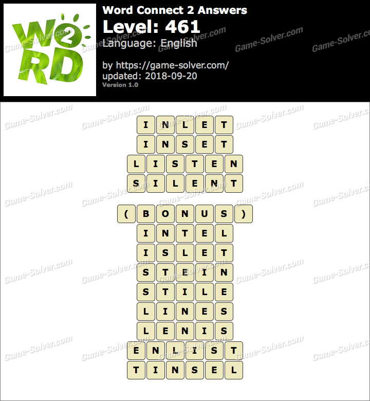 Word Connect 2 Level 461 Answers