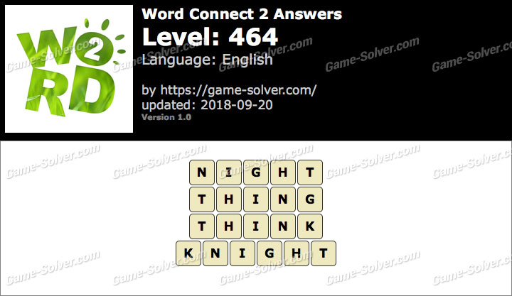 Word Connect 2 Level 464 Answers