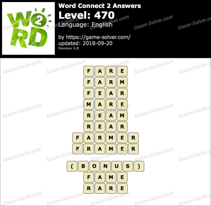 Word Connect 2 Level 470 Answers