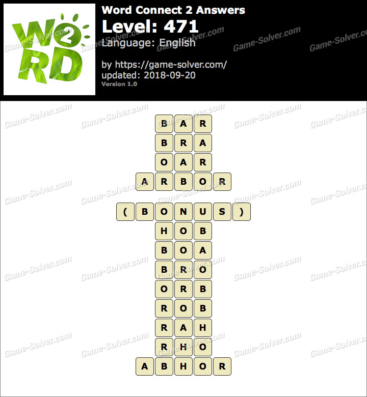 Word Connect 2 Level 471 Answers