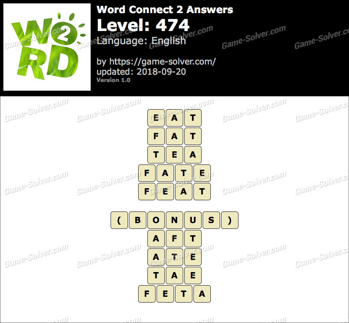 Word Connect 2 Level 474 Answers