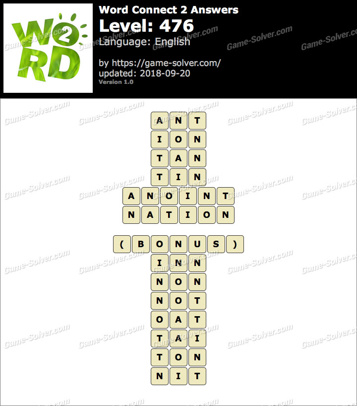 Word Connect 2 Level 476 Answers