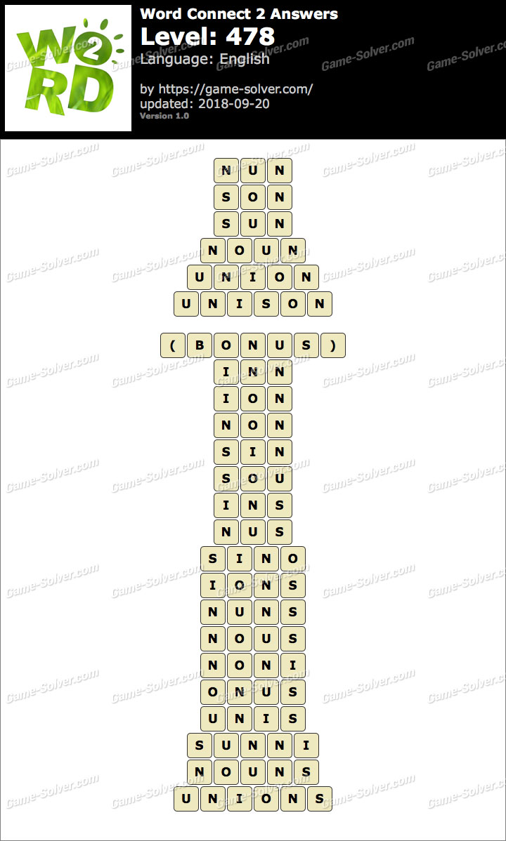 Word Connect 2 Level 478 Answers