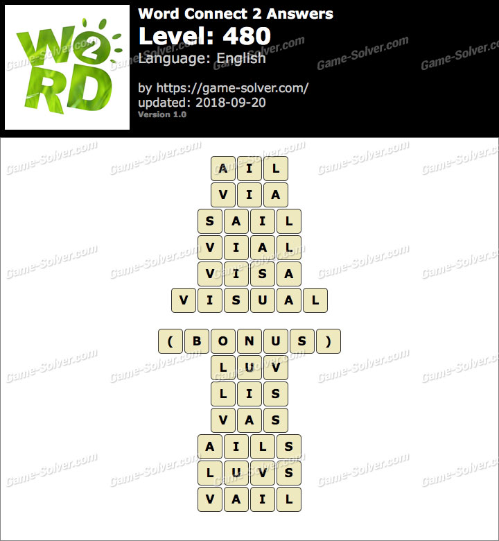 Word Connect 2 Level 480 Answers