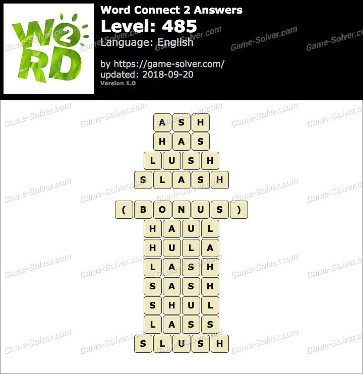 Word Connect 2 Level 485 Answers