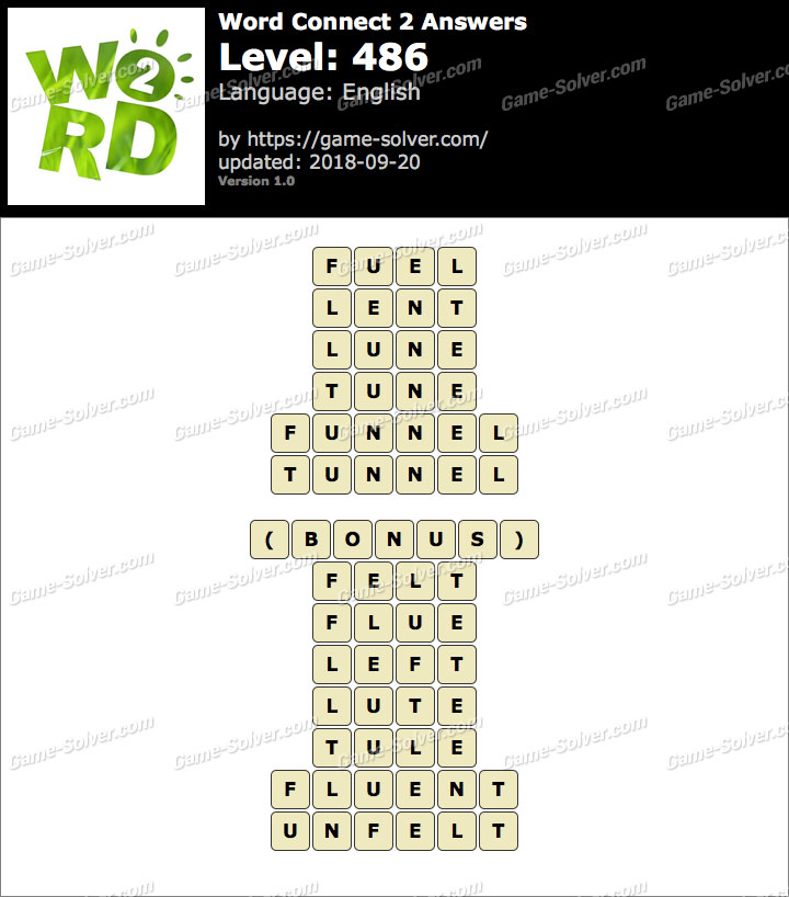 Word Connect 2 Level 486 Answers