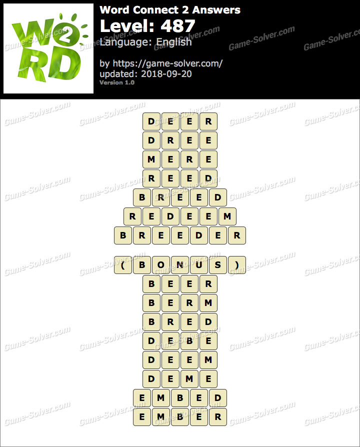 Word Connect 2 Level 487 Answers