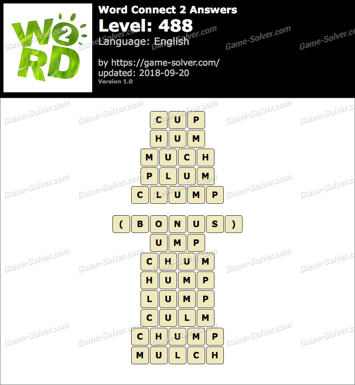 Word Connect 2 Level 488 Answers