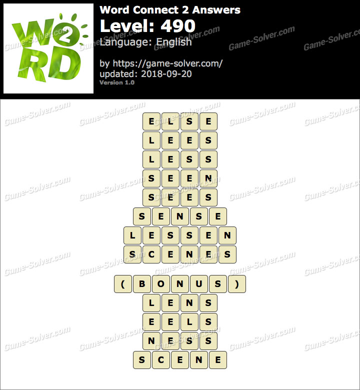 Word Connect 2 Level 490 Answers
