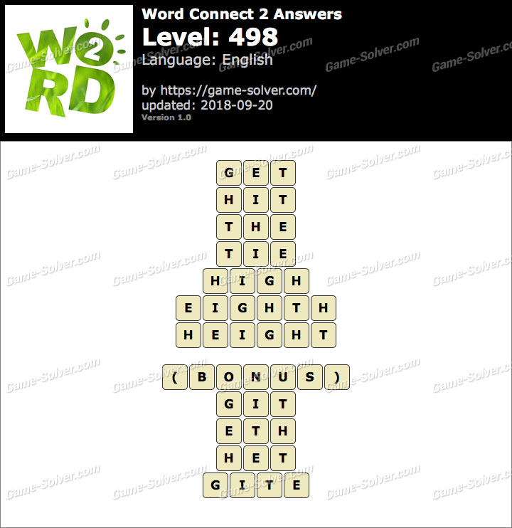 Word Connect 2 Level 498 Answers