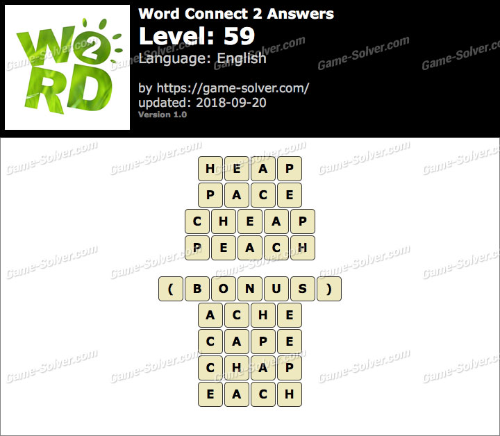 Word Connect 2 Level 59 Answers