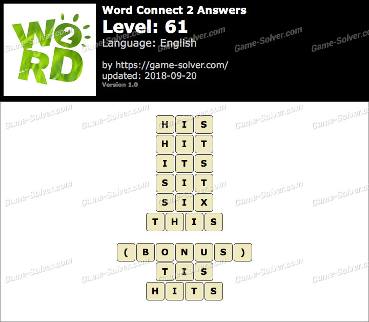 Word Connect 2 Level 61 Answers