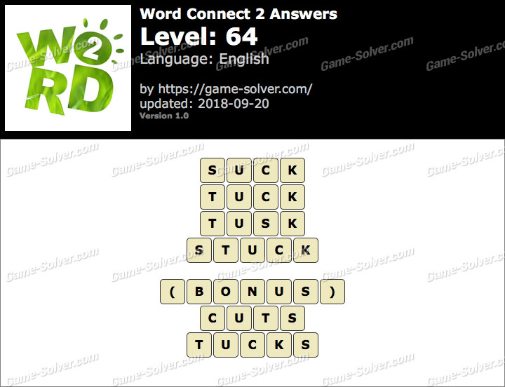 Word Connect 2 Level 64 Answers
