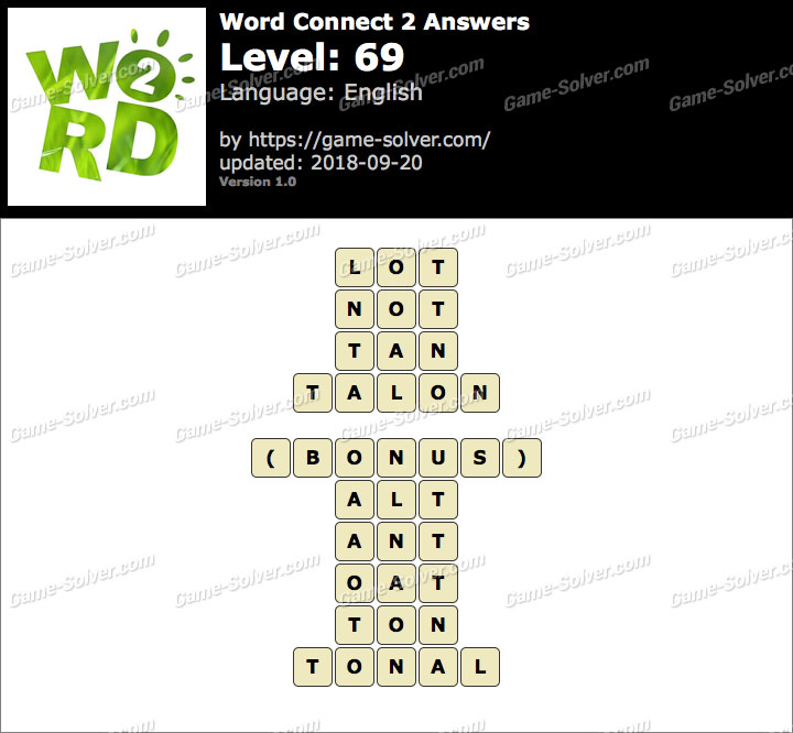 Word Connect 2 Level 69 Answers