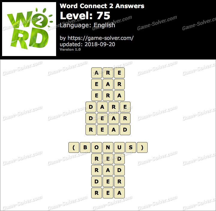 Word Connect 2 Level 75 Answers