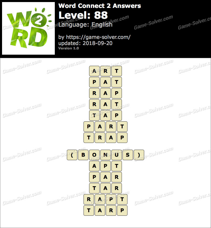 Word Connect 2 Level 88 Answers
