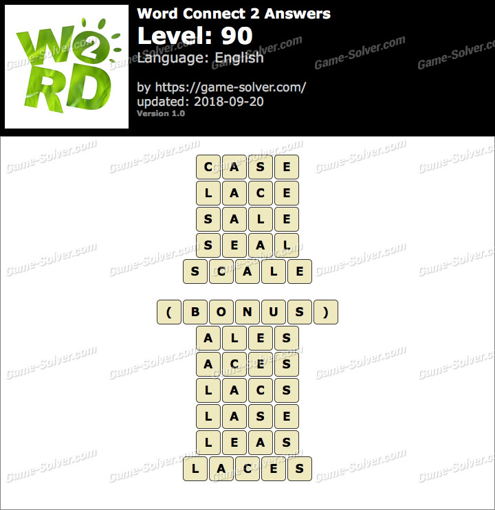 Word Connect 2 Level 90 Answers