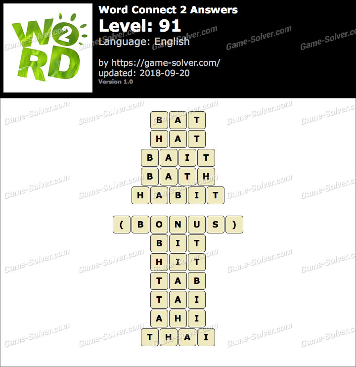 Word Connect 2 Level 91 Answers