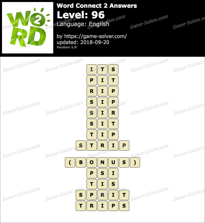 Word Connect 2 Level 96 Answers