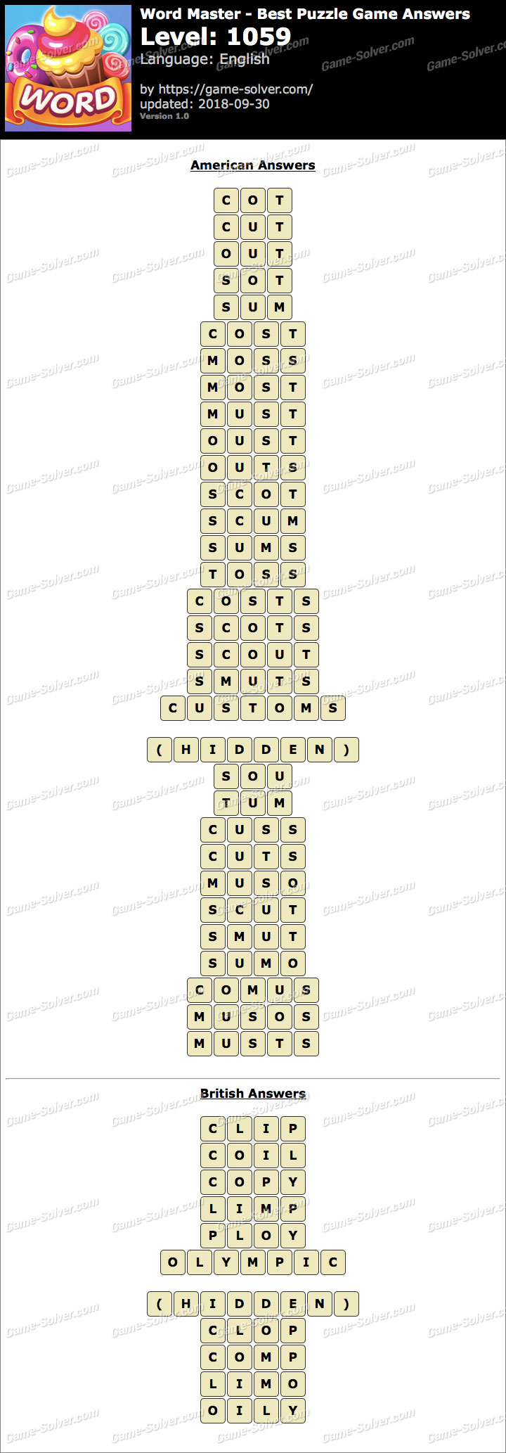 Word Master-Best Puzzle Game Level 1059 Answers