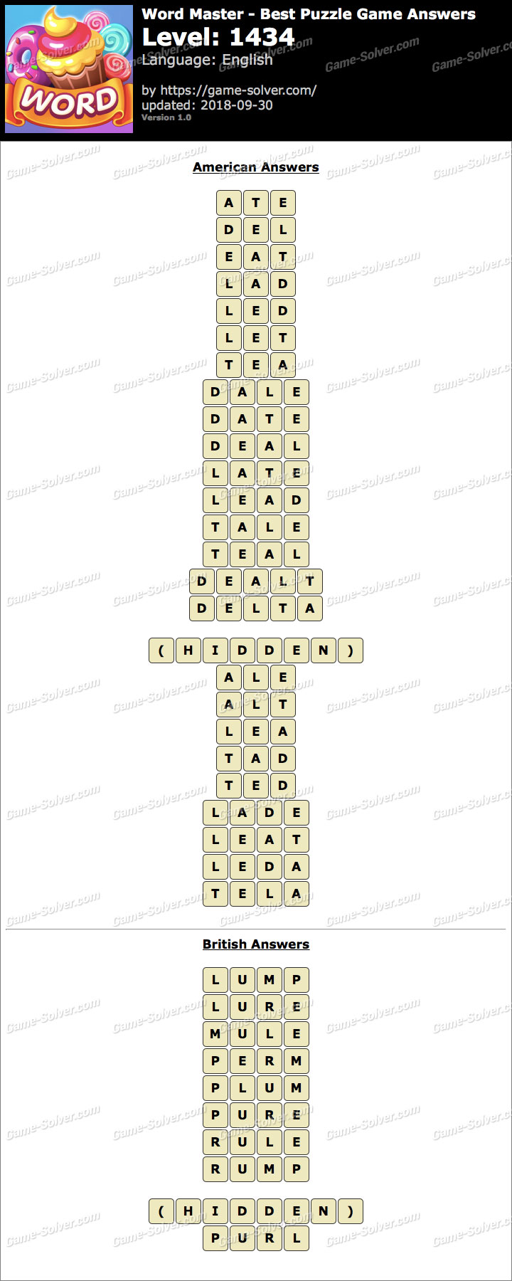 Word Master-Best Puzzle Game Level 1434 Answers