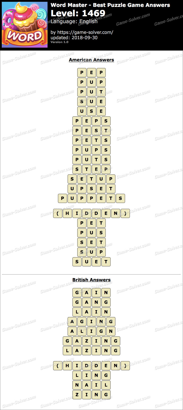 Word Master-Best Puzzle Game Level 1469 Answers