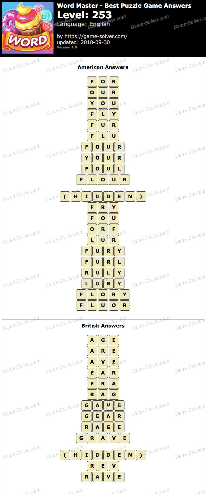 Word Master-Best Puzzle Game Level 253 Answers