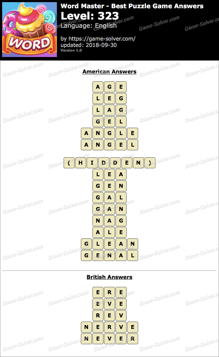 Word Master-Best Puzzle Game Level 323 Answers