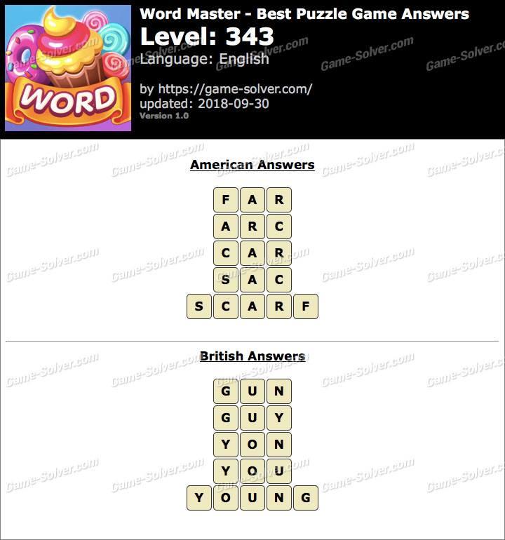 Word Master-Best Puzzle Game Level 343 Answers