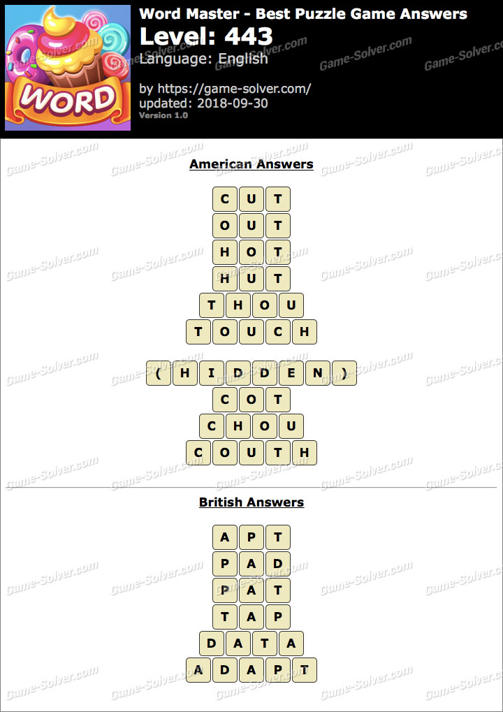 Word Master-Best Puzzle Game Level 443 Answers